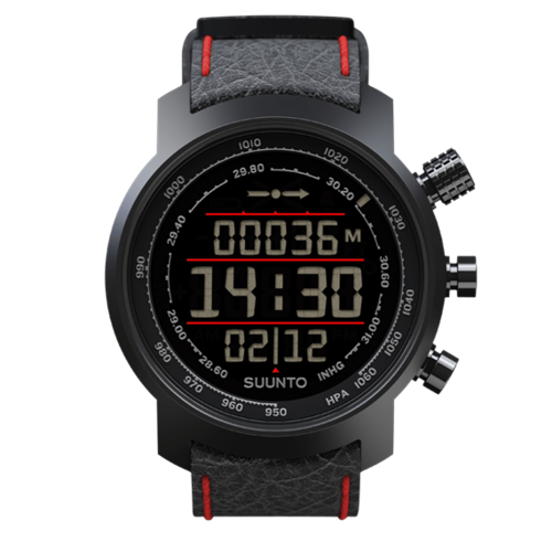 SUUNTO ELEMENTUM TERRA BLACK/RED LEATHER